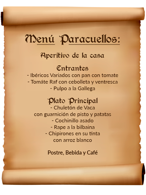 menu paracuellos
